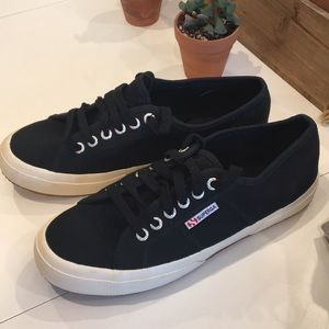 Superga black canvas sneakers size 8.5 women's